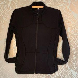 lululemon Full Zip Black Workout Sweater Size 8